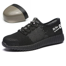 DAOKFPO Men Safety Shoes Breathable Summer Boots women Anti-smashing steel toe caps Anti-piercing Mesh mens work Shoes NNT-37 new exhibition men fashion safety shoes breathable flying woven anti smashing steel toe caps anti piercing fiber mens work shoes