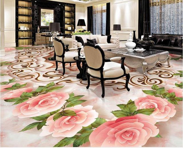 custom 3d floor tiles marble mosaic texture 3d room vinyl. Black Bedroom Furniture Sets. Home Design Ideas