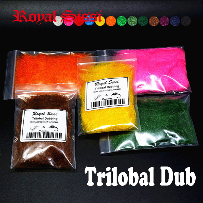 New 12colors for choose trilobal dubbing fly tying material/ Shaggy dubbing sparkle translucence gleamy dub trilobal ice dubbing bimoo 6 bags ultra fine ice dub for fly tying synthetic sparkle dubbing fiber for nymph scud streamers fly tying material