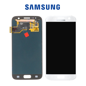 Image 5 - 5.1 SUPER AMOLED  Burn shadow LCD For Samsung Galaxy S7  Display With Frame G930 G930F LCD Screen Digitizer Assembly