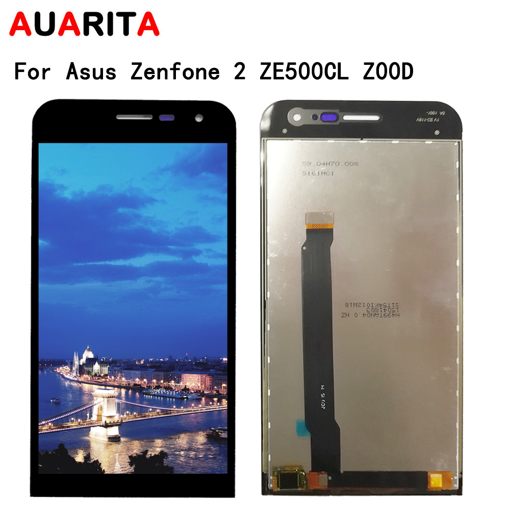 5.0'' Display For <font><b>Asus</b></font> <font><b>Zenfone</b></font> <font><b>2</b></font> <font><b>ZE500CL</b></font> Z00D LCD display Touch panel <font><b>glass</b></font> <font><b>Screen</b></font> LCD Digitizer with frame assembly Replacement image
