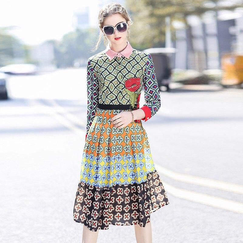 Új érkezési tavasz 2018 ruha női nagy divat kifutó ruhák - Női ruházat