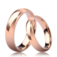 Rose Gold Rings Set for Lovers 6mm Tungsten Couple Ring for Men 4mm for Women Customs Engraving Name Free Size 6 to 14