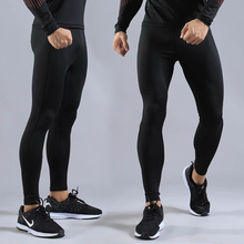 Men's jogging sports fitness running fitness compression tights fitness pants stretch pants marathon quick-drying цена