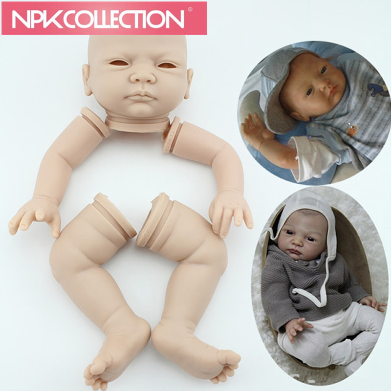 Baby Dolls Kit Set Including Head, Arm, Leg Doll Kit DIY Blank Kit Soft Vinyl Doll Reborn Dolls Soft Vinyl Silicone Vinly N196 animal dolls complete diy kit assorted