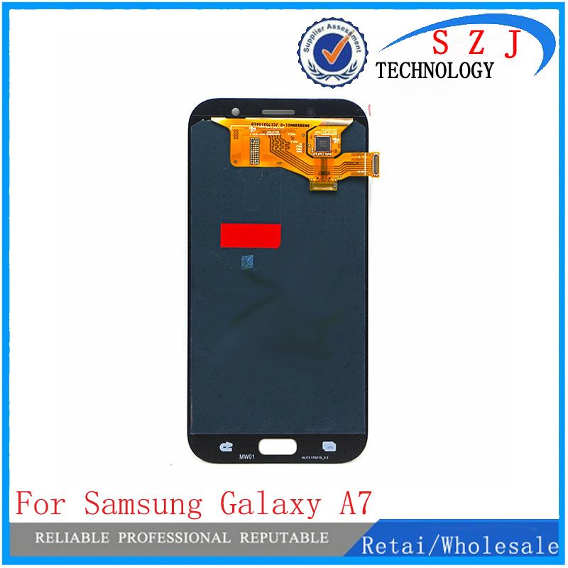 New case for Samsung Galaxy A7 2017 (2017) A720 A720F A720Y A720FL LCD Display and with Touch Screen Digitizer Assembly new case for samsung galaxy a5 a510 2016 lcd screen display with digitizer touch assembly for samsung galaxy a5 2016 a510f