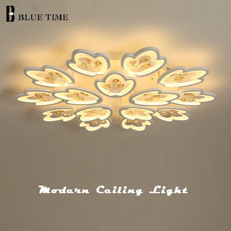 Art Decoration Crystal Led Chandelier For Home Living room Bedroom Study room Kitchen Lamp White Led Ceiling Chandelier Fixtures