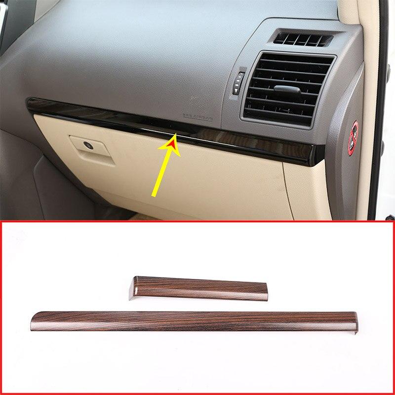 Grain de bois de pin pour Toyota Land Cruiser Prado FJ150 150 2010-2018 voiture ABS intérieur côté passager décoration bande garniture pour LHD