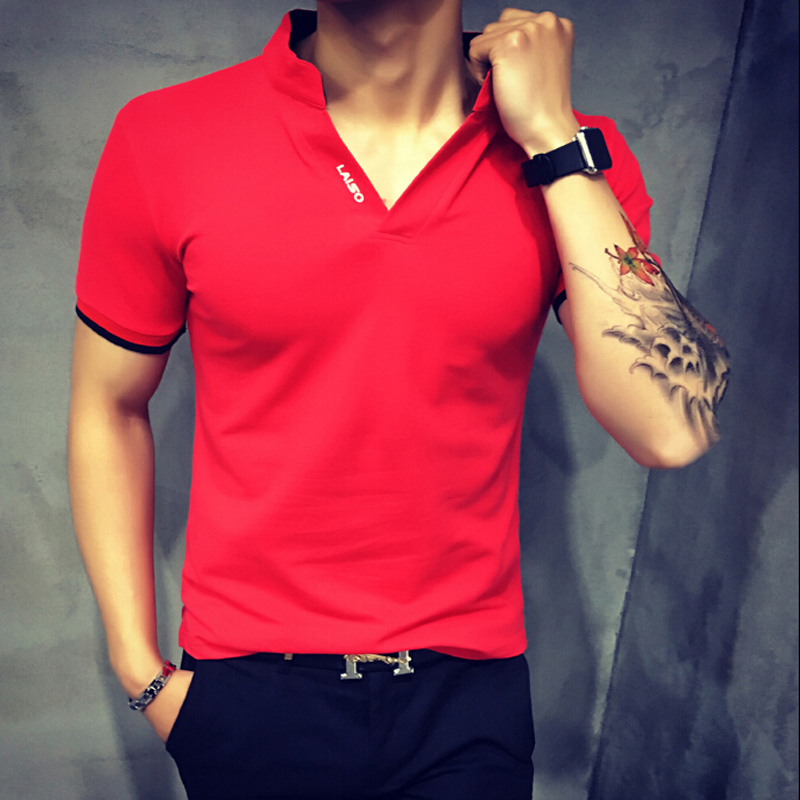 19 Summer Fashion Men's T Shirt Casual Patchwork Short Sleeve T Shirt Mens Clothing Trend Casual Slim Fit Hip-Hop Top Tees 5XL 43