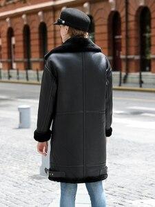 Image 5 - OFTBUY réel manteau de fourrure veste dhiver femmes Double face fourrure en cuir véritable manteau naturel fourrure de mouton épais chaud Streetwear vêtements dextérieur