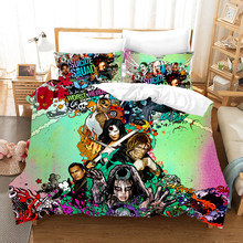 Suicide Squad Rudy 3d bedding set Duvet Covers Pillowcases Harley Quinn Chaplin comforter bedding sets bedclothes bed linen(China)