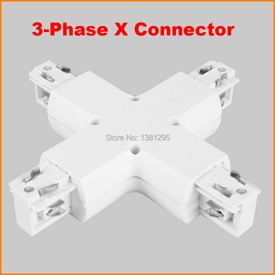 3 phase circuit 4 wire x shape track connector led light rail 3 phase circuit 4 wire x shape track connector led light rail joiner aluminum track accessories lamp lighting track system white in track lighting from mozeypictures Images