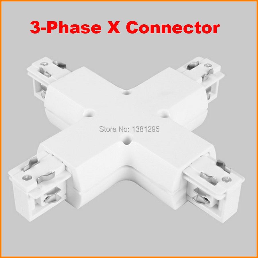 3 Phase Schaltung 4 Draht X Form Track stecker LED licht Schiene ...