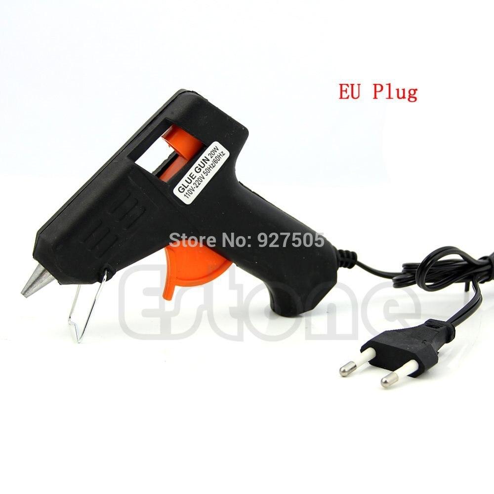 ЕС Plug 20 Вт электрическое Отопление термоклей пистолет палочки триггера художественного инструмент для ремонта + 6 шт. 7 мм термоклей палочки