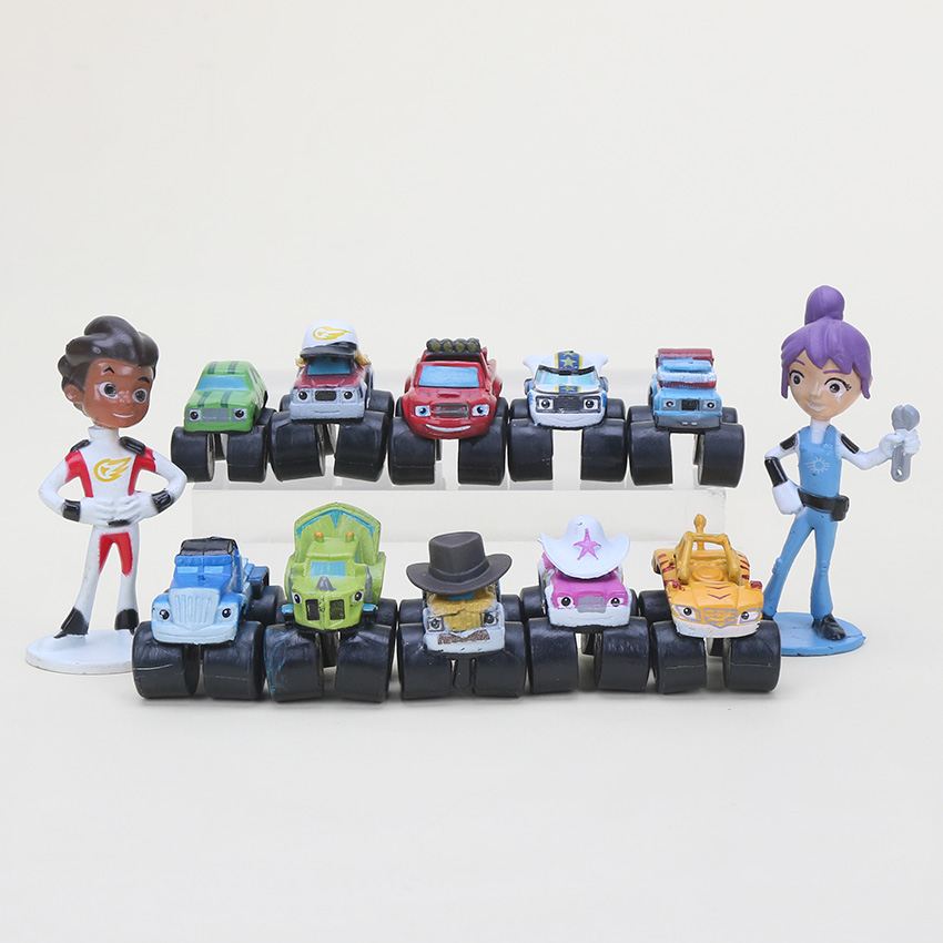 Action-Figure Storm-Machines Miracle Blaze Small Children Toys for as Gift 12pcs/Set