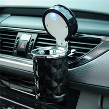 Mini Portable Car Ashtray LED Light, Cigarette Cylinder Holder