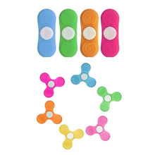 1pc Hot Silicone Multi-color Finger Fidget Metal Hybird Bearing Gyro Kids Desk Toy color will be send by random