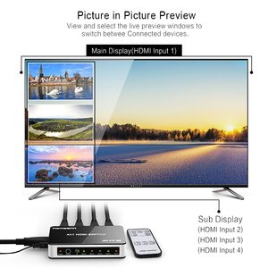 Image 3 - Tomsenn 4K x 2K 4 Port yüksek hızlı HDMI anahtarı 4x1 Picture In  resim (PiP) özellik ve IR kablosuz uzaktan kumanda