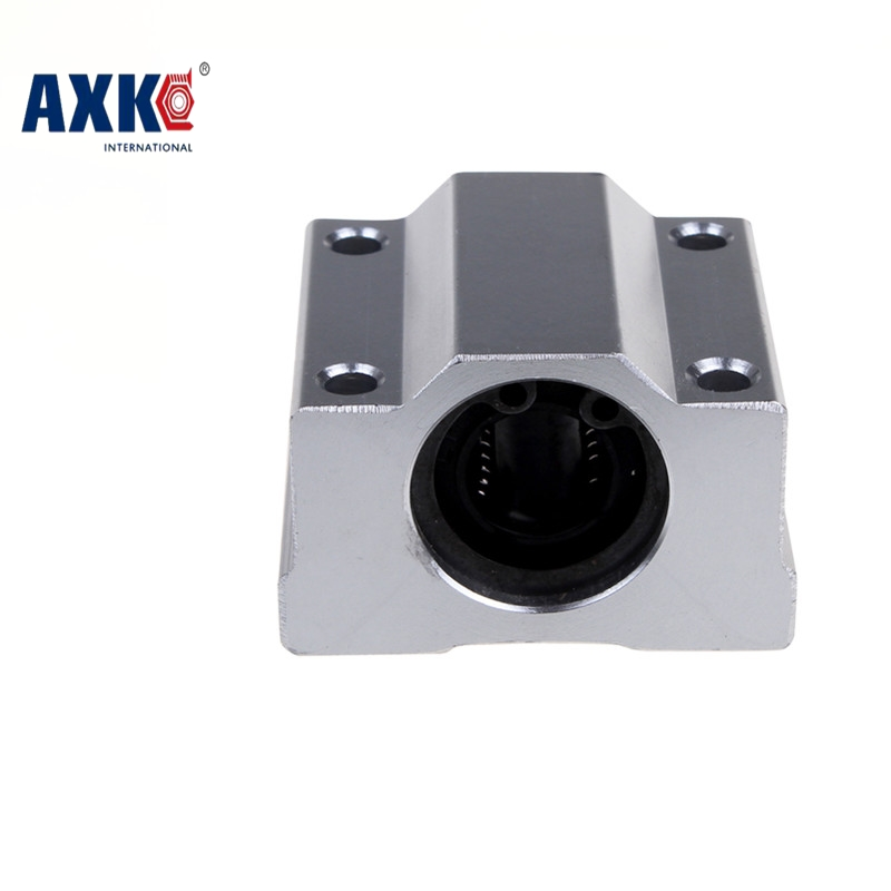 High quality4 pcs SC12UU SCS12UU Linear motion ball bearings slide block bushing for 12mm linear shaft guide rail scv25uu slide linear bearings aluminum box type cylinder axis scv25 linear motion ball silide units cnc parts high quality