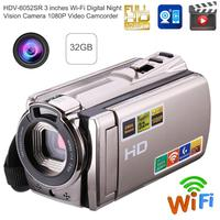 Wi Fi Digital Camera HD 1080P Video Camera Camcorder Night Vision 8MP 16X Zoom COMS Sensor 3 inch TFT LCD Screen Wireless Camera