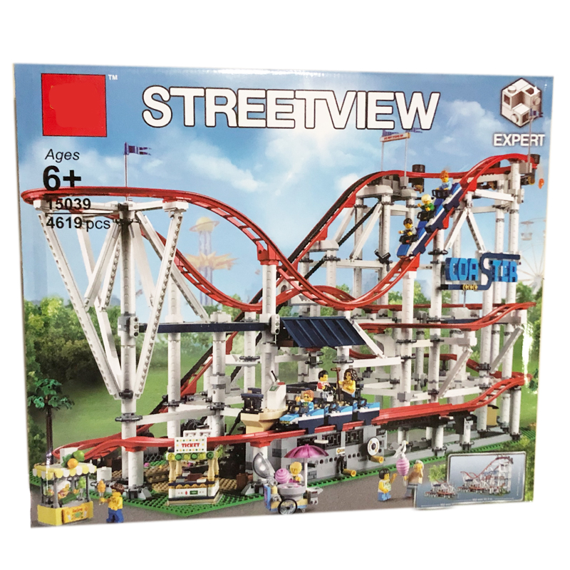 Roller Coaster 15039 Building Kit StreetView Creator Building Blocks Toys for Children Compatible with 10261 robotbase rb 13k022 electronic start building blocks kit works with official arduino boards