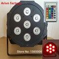 Беспроводной пульт дистанционного управления Супер Яркий LED Par RGB SlimPar Tri 7 LED Стадии Мытья Освещения Бесплатный & Быстрая доставка