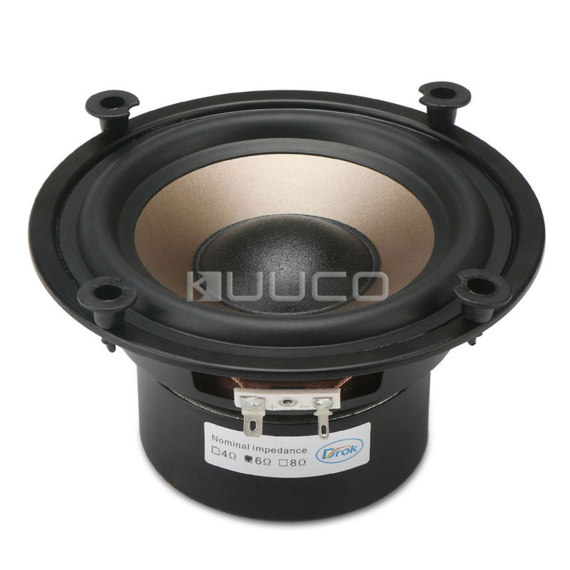 Hi-Fi Subwoofer Speaker Audio Bass Loudspeaker 40W Shocking Bass Speaker 5.25-inch 6 ohms Double magnetic Speaker quantum alpha series 6 5 inch component speaker