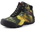 Zapatos de Ocio de Invierno de los hombres zapatos de Escalada Al Aire Libre de Camuflaje Hombres ropa Impermeable Ejército de los aficionados de Alta ayudar a proteger el hombre zapato