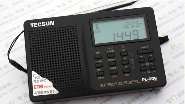 TECSUN PL-606 Радио Портативный Цифровой ЖК FM stereo/MW/LW/Sw короткие волны, всемирный Оркестр DSP Приемник, температура, дисплей времени