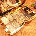 2016 Más Nuevos 10 Colores de Sombra de Ojos Herramientas de Cosméticos de Maquillaje Ahumado de Sombra de Ojos Brillante Super Flash