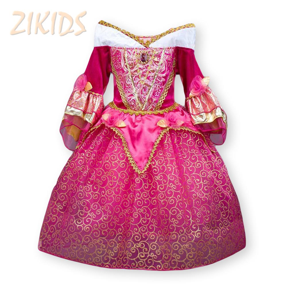 Noble Sleeping Beauty Girl vestido Anna Elsa Cosplay traje para la ...