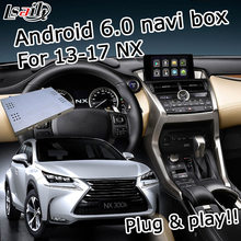 Android 6.zero GPS navigation field for Lexus NX 2012-2017 and so forth knob & touchpad management video interface with GVIF LVDS forged display screen