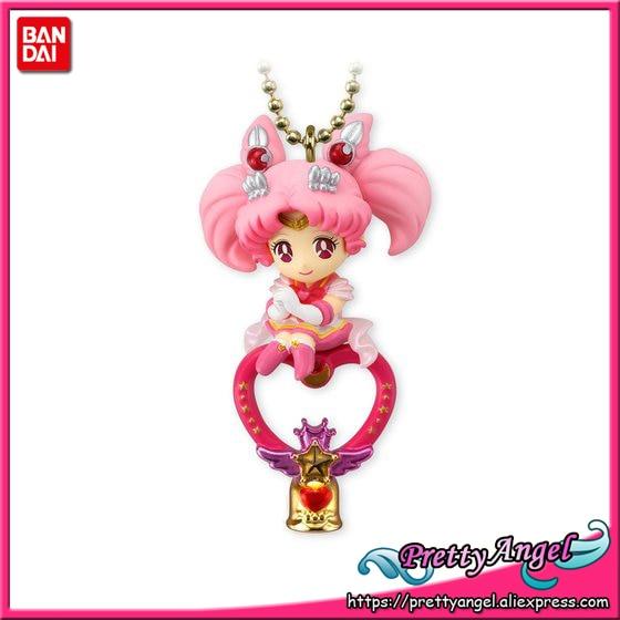 Original Bandai Shokugan Twinkle Dolly Sailor Moon Part.4 Keychain Action Figure  - Sailor Chibi Moon ( Chibi Usa ) original bandai shokugan sailor moon butterfly ribbon charm key chain sailor moon