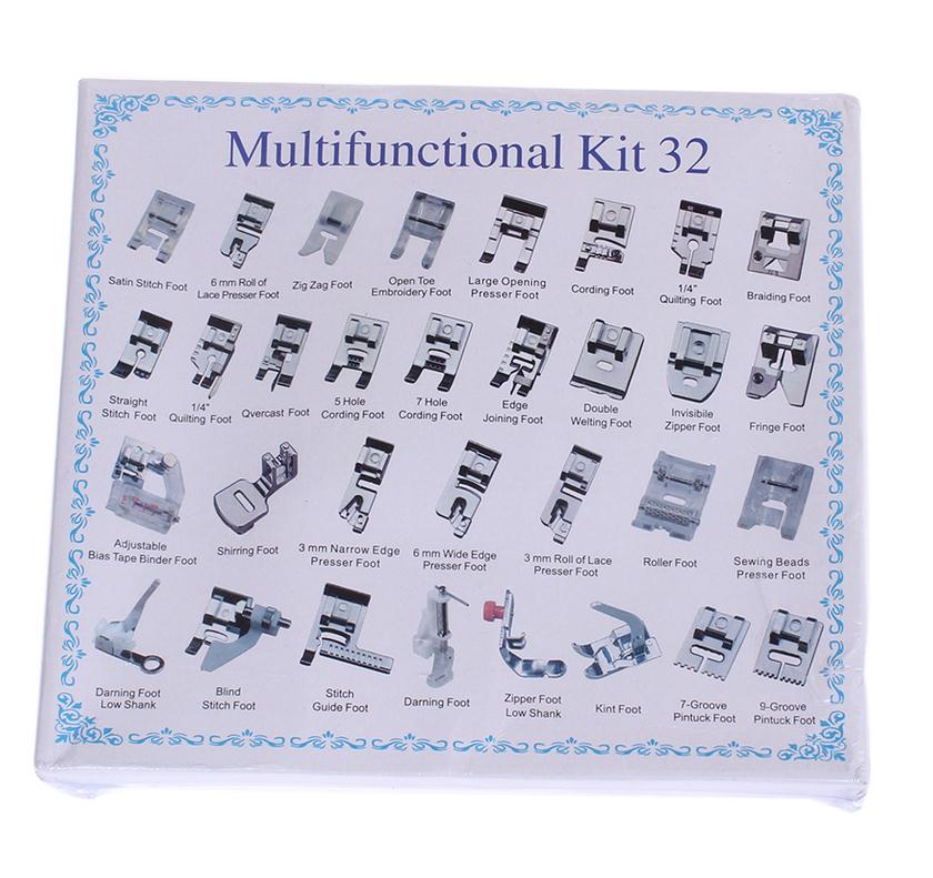 ₩40pcs Home Domestic Sewing Machine Presser Foot Feet Kit Set With Simple Brother Sewing Machine Presser Foot Types
