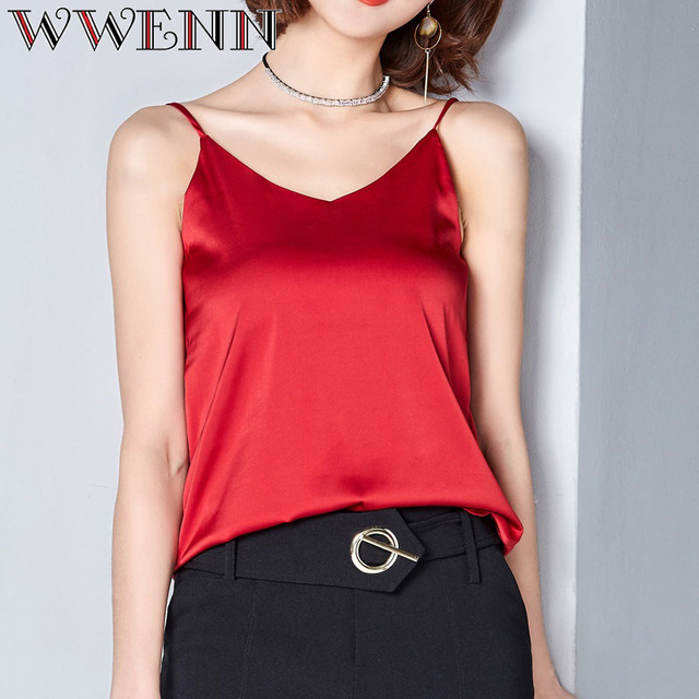 High Quality Spring Summer Casual 7 Colors Shirt Sleeveless Blouse Women Blusas 4