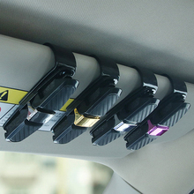 Draagbare Fastener Cip Brillen Clip Ticket Kaart Klem ABS Auto Bril Gevallen Zwarte Auto Zonneklep Zonnebril Houder