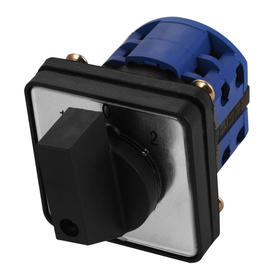 3 Positions On-Off-On Control Changeover Switch LW26-20D 20A Rotary Cam Switch + 4pcs Screws 660v ui 10a ith 1 0 2 on off on universal rotary cam changeover switch