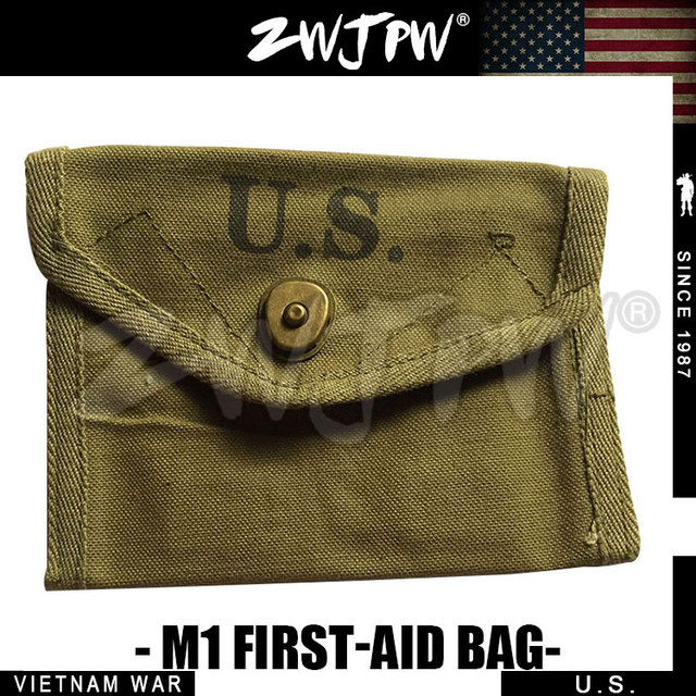 VIETNAM WAR US Army Military M1 First Aid Ammo Pouch Outdoor Packet Bag Army Green Color US/104102