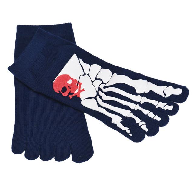 2017 Nueva Moda 6 Pair Esquelética Five Fingers Trainer Toe Tobillo Calcetines Cómodos Suaves calcetines calcetines de Navidad