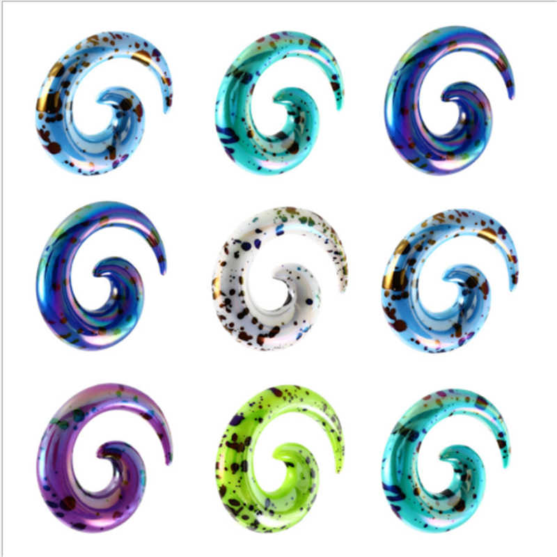 2018 New Hot Sale Ear Plug Tunnel Fashion Multicolor Snails Ear Gauge Stretcher Punk Expander Women Men Body Piercing Jewelry