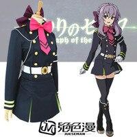 Серафим конца хиираги Shinoa COS аниме вечерние Косплэй Для женщин костюм униформа полный комплект
