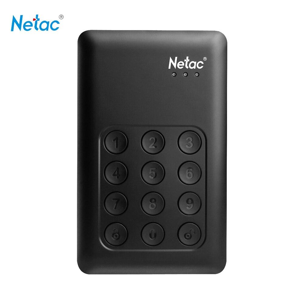 Netac K588 500GB/1TB/2TB HDD USB 3.0 Portable HDD disco 256-bit Encryption Keypad Lock for Laptop PC External Hard Disk Drive for pc and mac nobletlocks ns20t xtrap notebook cable lock laptop lock 6feet