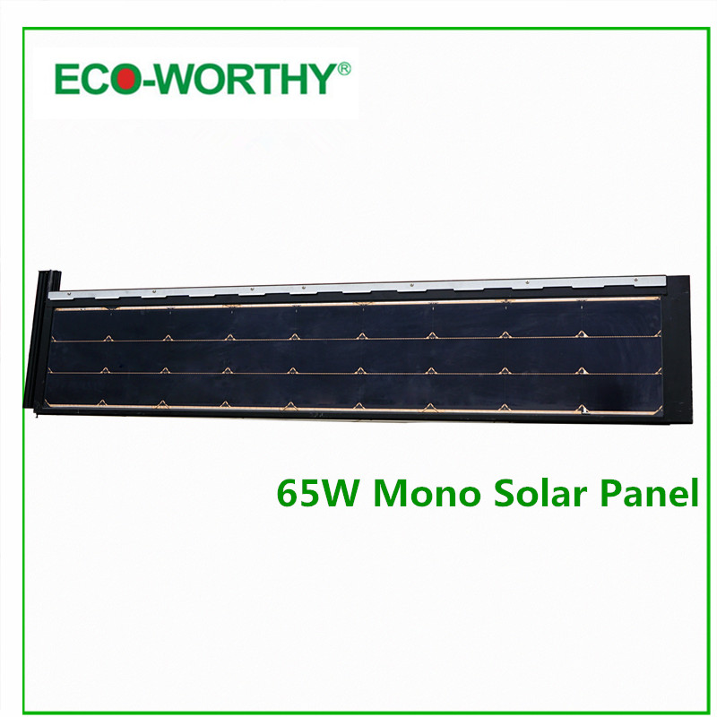 ECO-WORTHY 130W Watt 12V Monocrystalline Mono Solar Panel 2pcs 65W  12V  for Home Boat Solar Generators 10x 5w watt 2r2 2 2 ohm 5