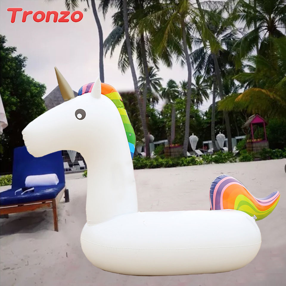 Tronzo Единорог поплавок Единорог вечерние поставляет Русалка надувной бассейн кольцо летние пляжные бассейн игрушка взрослый ребенок вечер...