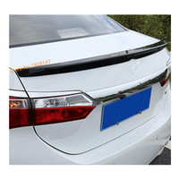 high quality car carbon fibre Rear door Wing tail Spoiler frame plate trim For Toyota Corolla Altis 2017 2018 2019 1pcs