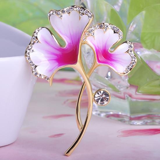 Argent Strass Cristal émail robe de Mariage Fleur Papillon Broche Broche Cadeau