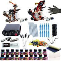Phoenixy Completed Tattoo Kit Tattoo Machine Set Beginner Tattoo Kit Permanent Make Up 20 Colors Tattoo Ink Set Professional