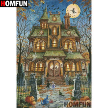 HOMFUN Full Square/Round Drill 5D DIY Diamond Painting House landscape Embroidery Cross Stitch 3D Home Decor Gift A13252 homfun full square round drill 5d diy diamond painting house landscape embroidery cross stitch 5d home decor gift a18092