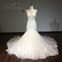 Vestidos De Noiva Custom Made Bridal Gowns Ivory Lace Appliques Luxury Mermaid Wedding Dresses 2017 Aliexpress
