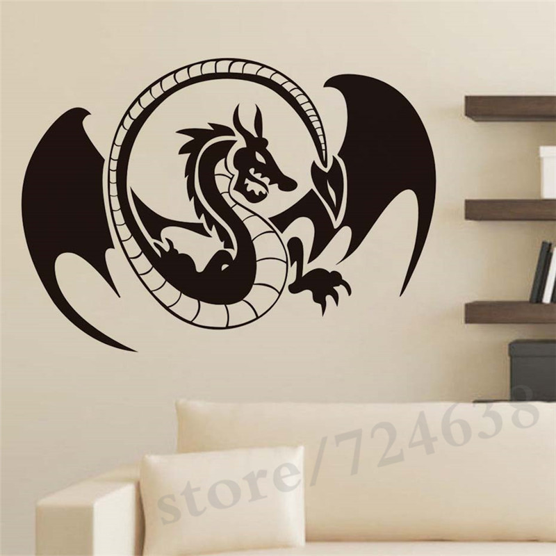 Removable Creative Dragon Huge Cool Wall Stickers For Children S Room Adhesive Baby Decals Home Decor In From Garden On